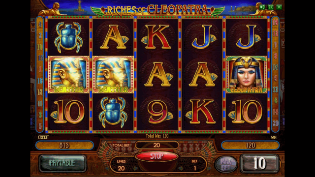 Характеристики слота Riches Of Cleopatra 5
