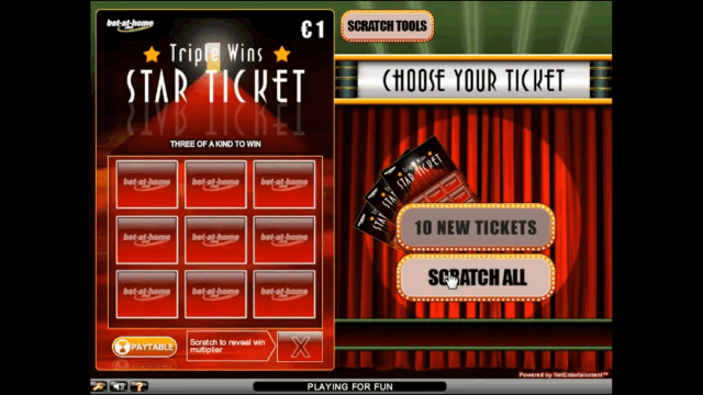Характеристики слота Triple Wins Star Ticket 7