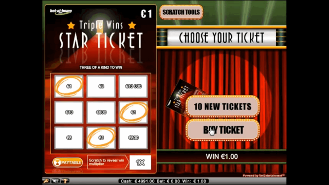 Характеристики слота Triple Wins Star Ticket 10