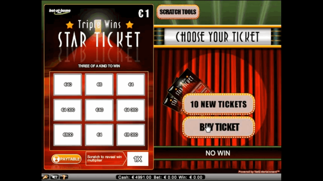 Характеристики слота Triple Wins Star Ticket 9